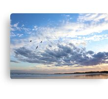 Torquay Beach and Clouds Canvas Print