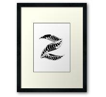 Alphabet Letter Z Abstract Watercolour white Framed Print