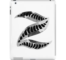 Alphabet Letter Z Abstract Watercolour white iPad Case/Skin