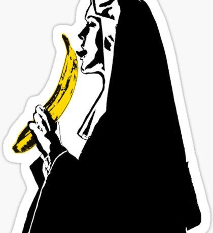 NUN WITH BANANA Sticker