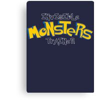 Invisible Pokemon Monsters Trainer Canvas Print
