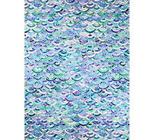 Marble Mosaic in Sapphire and Emerald Photographic Print