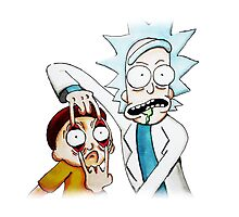 Rick and Morty in Colour Photographic Print