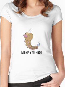 Weedle Make you high - funny pokemon go Women's Fitted Scoop T-Shirt