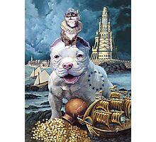 Surrealism Dog Tee Photographic Print