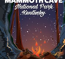 Kentucky Mammoth cave travel poster. by Nick  Greenaway