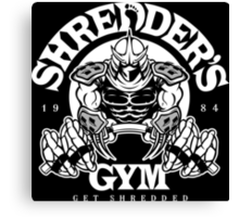 Shredder's Gym Canvas Print