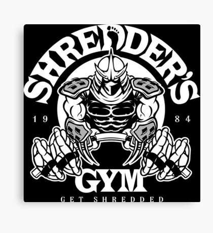 Shredder's Gym Canvas Print