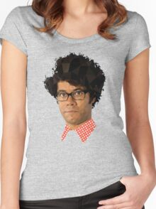 Moss - IT Crowd Women's Fitted Scoop T-Shirt