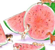 Watermelon Pups Sticker