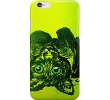 Brushstrokes Cat (yellow)  iPhone Case/Skin