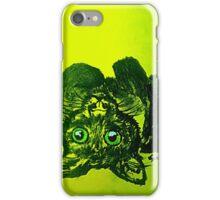 Brushstrokes Cat (yellow)  iPhone Case/Skin