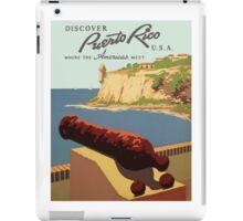 Vintage Puerto Rico Travel iPad Case/Skin