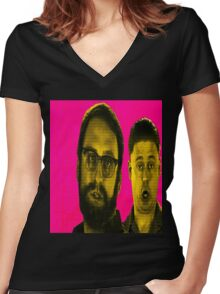 Time and Eric. GREAT JOB! Women's Fitted V-Neck T-Shirt