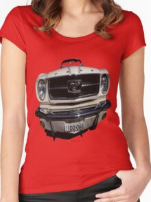 Ford Mustang Convertible Car T-shirt Design Women's Fitted Scoop T-Shirt