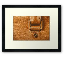Brown Leather Woman Bag Closeup Framed Print