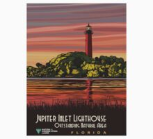 Vintage poster - Jupiter Inlet Lighthouse One Piece - Short Sleeve