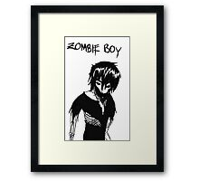 Zombie Boy Collection Framed Print