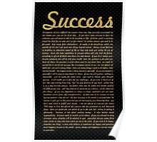 Success... Life Inspirational Quote Poster