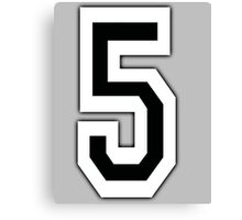 5, TEAM SPORTS, NUMBER 5, FIFTH, FIVE, Competition, Canvas Print