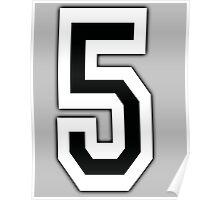 5, TEAM SPORTS, NUMBER 5, FIFTH, FIVE, Competition, Poster