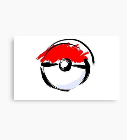 Pokemon Pokeball Canvas Print