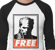 Vergil Free Obey Design Men's Baseball ¾ T-Shirt