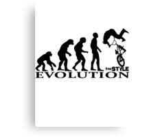 bmx freestyle, freestyle evolution Canvas Print