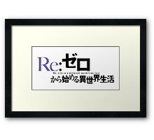 Re:Zero kara Hajimeru Isekai Seikatsu Framed Print