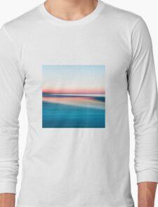 Coffin's Beach In Blur Long Sleeve T-Shirt