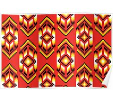 Native American Design Bead Pattern CLAY Poster