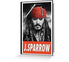(MOVIES) Jack Sparrow Greeting Card