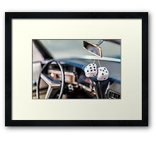 Classic Car & Furry Dice Framed Print
