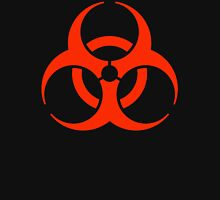 Bio hazard, DANGER, HAZARD,Symbol, Biological Hazard, WARNING, RED on BLACK Unisex T-Shirt