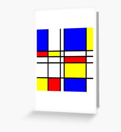 Piet Mondrian-Inspired 2 Greeting Card