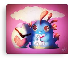 Murloc & Egg Canvas Print
