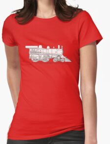 1893 World's Fastest Steam Locomotive Engine Womens Fitted T-Shirt