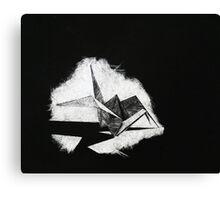Scratch Crane Canvas Print