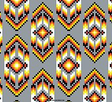 Native American Design Bead Pattern SMOKE by Carolina Swagger