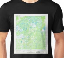 USGS TOPO Map Alaska AK Mount McKinley D-4 357811 1953 63360 Unisex T-Shirt