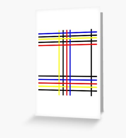 Piet Mondrian-Inspired 4 Greeting Card