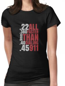 Faster Than 911 Funny Logo Womens Fitted T-Shirt