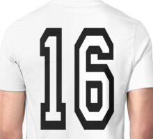 16, TEAM SPORTS, NUMBER 16, SIXTEEN, SIXTEENTH, Sweet sixteen, Competition,  Unisex T-Shirt