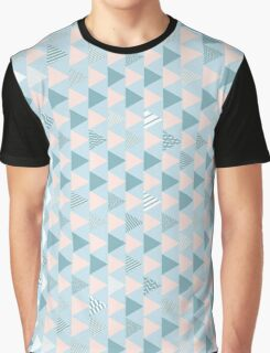 geometry blue triangle Graphic T-Shirt