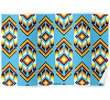 Native American Design Bead Pattern SKY Poster