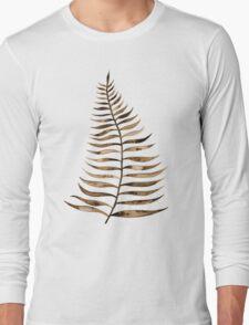 Palm Leaf – Sepia Long Sleeve T-Shirt