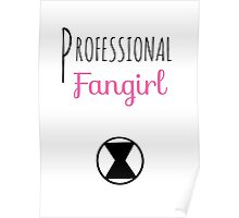 Professional Fangirl - Black Widow Poster