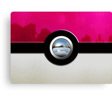 Pink Pokeball Canvas Print