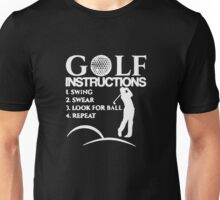 Golf Instructions Funny Unisex T-Shirt