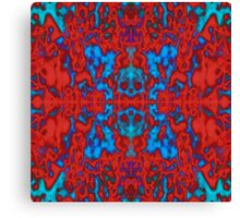 Red psychedelic kaleidoscope pattern Canvas Print